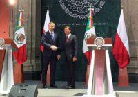 Relación bilateral entre México y Polonia aumentará