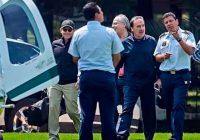 Gamboa utiliza helicóptero oficial para ir a jugar golf