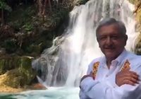 Cuenta AMLO sus historias en las Cascadas de Agua Azul