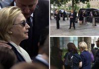 Hillary Clinton sufrió por neumonía en aniversario del 11s