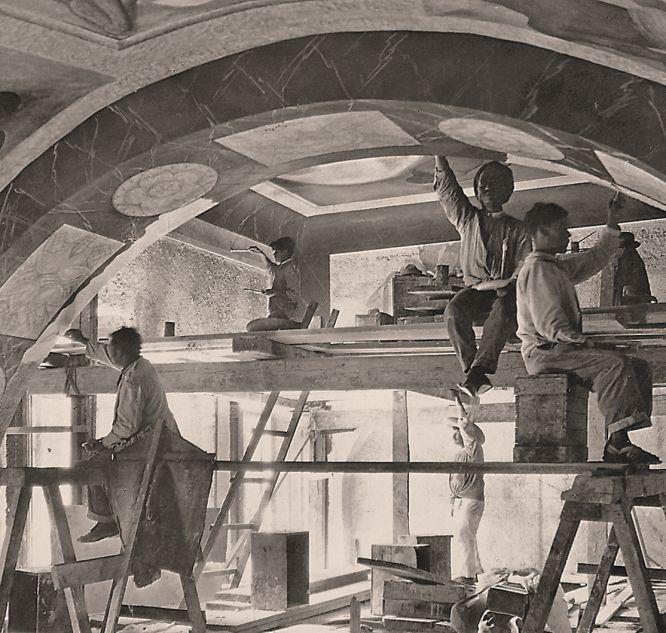 Diego Rivera trabajando - Tina Modotti