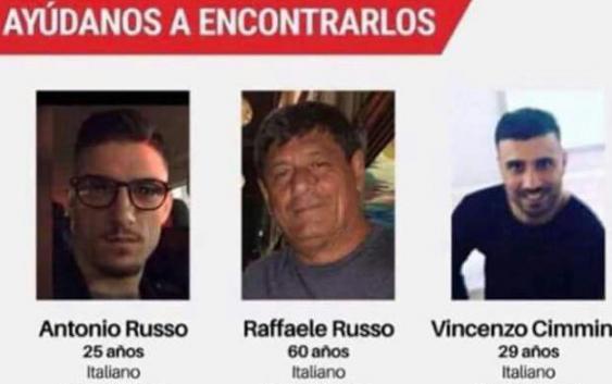 desaparecen 3 italianos en mexico