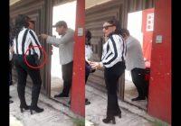 Con pistola al cinto, directora de Vialidad Estatal de Puebla amenaza conductor