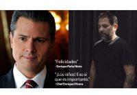 EPN felicita a chef mexicano y este le pide que se ocupe de los niños migrantes