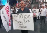 Se manifiestan contra fraude en Puebla en Nueva York