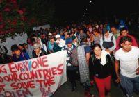 Caravana de migrantes cruza la frontera sur de México